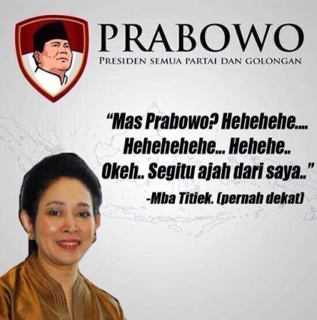Gambar Dp BBM Lucu Penolakan Pilpres 2014 Prabowo